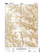 Donnellson Iowa Current topographic map, 1:24000 scale, 7.5 X 7.5 Minute, Year 2015 from Iowa Map Store