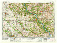 Dubuque Iowa Historical topographic map, 1:250000 scale, 1 X 2 Degree, Year 1962