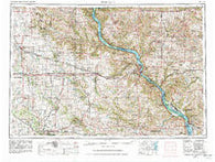 Dubuque Iowa Historical topographic map, 1:250000 scale, 1 X 2 Degree, Year 1959