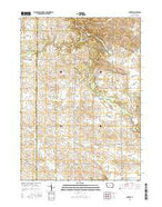 Dundee Iowa Current topographic map, 1:24000 scale, 7.5 X 7.5 Minute, Year 2015 from Iowa Map Store
