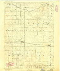 Durant Iowa Historical topographic map, 1:62500 scale, 15 X 15 Minute, Year 1890