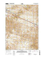 Dyersville East Iowa Current topographic map, 1:24000 scale, 7.5 X 7.5 Minute, Year 2015 from Iowa Map Store