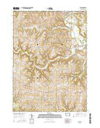 Elgin Iowa Current topographic map, 1:24000 scale, 7.5 X 7.5 Minute, Year 2015 from Iowa Map Store
