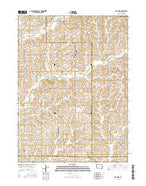 Elk Horn Iowa Current topographic map, 1:24000 scale, 7.5 X 7.5 Minute, Year 2015 from Iowa Map Store