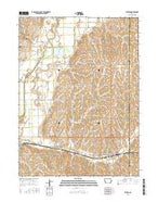 Emerson Iowa Current topographic map, 1:24000 scale, 7.5 X 7.5 Minute, Year 2015 from Iowa Map Store