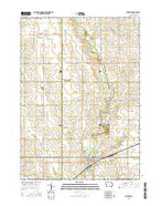 Fairbank Iowa Current topographic map, 1:24000 scale, 7.5 X 7.5 Minute, Year 2015 from Iowa Map Store