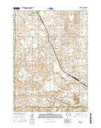 Fertile Iowa Current topographic map, 1:24000 scale, 7.5 X 7.5 Minute, Year 2015 from Iowa Map Store