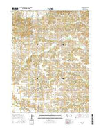 Floris Iowa Current topographic map, 1:24000 scale, 7.5 X 7.5 Minute, Year 2015 from Iowa Map Store