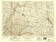Fort Dodge Iowa Historical topographic map, 1:250000 scale, 1 X 2 Degree, Year 1958