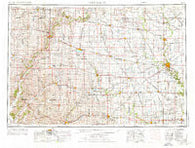 Fort Dodge Iowa Historical topographic map, 1:250000 scale, 1 X 2 Degree, Year 1954