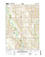 Frederika Iowa Current topographic map, 1:24000 scale, 7.5 X 7.5 Minute, Year 2015 from Iowa Map Store
