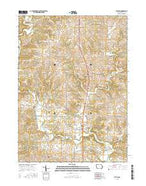 Fulton Iowa Current topographic map, 1:24000 scale, 7.5 X 7.5 Minute, Year 2015 from Iowa Map Store
