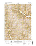 Garnavillo Iowa Current topographic map, 1:24000 scale, 7.5 X 7.5 Minute, Year 2015 from Iowa Map Store
