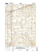 Garner Iowa Current topographic map, 1:24000 scale, 7.5 X 7.5 Minute, Year 2015 from Iowa Map Store