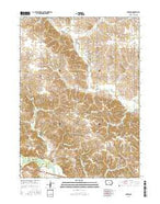 Garwin Iowa Current topographic map, 1:24000 scale, 7.5 X 7.5 Minute, Year 2015 from Iowa Map Store
