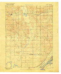 Goose Lake Iowa Historical topographic map, 1:62500 scale, 15 X 15 Minute, Year 1894