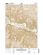 Gunder Iowa Current topographic map, 1:24000 scale, 7.5 X 7.5 Minute, Year 2015 from Iowa Map Store