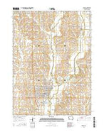 Harlan Iowa Current topographic map, 1:24000 scale, 7.5 X 7.5 Minute, Year 2015 from Iowa Map Store