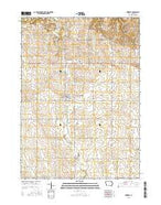 Hawkeye Iowa Current topographic map, 1:24000 scale, 7.5 X 7.5 Minute, Year 2015 from Iowa Map Store