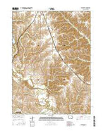 Hiattsville Iowa Current topographic map, 1:24000 scale, 7.5 X 7.5 Minute, Year 2015 from Iowa Map Store