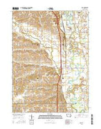 Hills Iowa Current topographic map, 1:24000 scale, 7.5 X 7.5 Minute, Year 2015 from Iowa Map Store