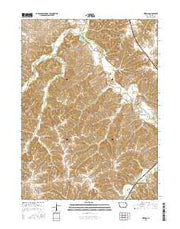 Hiteman Iowa Current topographic map, 1:24000 scale, 7.5 X 7.5 Minute, Year 2015 from Iowa Maps Store
