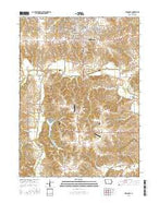 Indianola Iowa Current topographic map, 1:24000 scale, 7.5 X 7.5 Minute, Year 2015 from Iowa Map Store