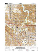 Iowa City West Iowa Current topographic map, 1:24000 scale, 7.5 X 7.5 Minute, Year 2015 from Iowa Map Store