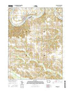 Keosauqua Iowa Current topographic map, 1:24000 scale, 7.5 X 7.5 Minute, Year 2015 from Iowa Map Store