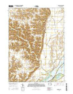 Kingston Iowa Current topographic map, 1:24000 scale, 7.5 X 7.5 Minute, Year 2015 from Iowa Map Store