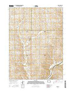 Kiron Iowa Current topographic map, 1:24000 scale, 7.5 X 7.5 Minute, Year 2015 from Iowa Map Store