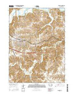 Knoxville Iowa Current topographic map, 1:24000 scale, 7.5 X 7.5 Minute, Year 2015 from Iowa Map Store