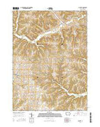 La Motte Iowa Current topographic map, 1:24000 scale, 7.5 X 7.5 Minute, Year 2015 from Iowa Map Store