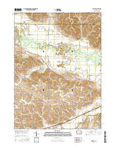 Ladora Iowa Current topographic map, 1:24000 scale, 7.5 X 7.5 Minute, Year 2015