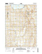 Lakeside Iowa Current topographic map, 1:24000 scale, 7.5 X 7.5 Minute, Year 2015 from Iowa Map Store