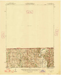 Lamoni Iowa Historical topographic map, 1:62500 scale, 15 X 15 Minute, Year 1947