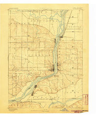 Leclaire Iowa Historical topographic map, 1:62500 scale, 15 X 15 Minute, Year 1893