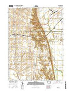 Letts Iowa Current topographic map, 1:24000 scale, 7.5 X 7.5 Minute, Year 2015 from Iowa Map Store
