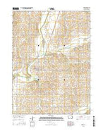 Lewis Iowa Current topographic map, 1:24000 scale, 7.5 X 7.5 Minute, Year 2015 from Iowa Map Store