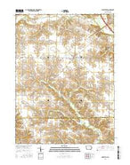 Libertyville Iowa Current topographic map, 1:24000 scale, 7.5 X 7.5 Minute, Year 2015 from Iowa Map Store
