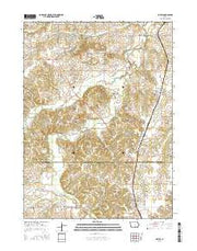 Lovilia Iowa Current topographic map, 1:24000 scale, 7.5 X 7.5 Minute, Year 2015 from Iowa Maps Store