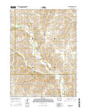 Macksburg Iowa Current topographic map, 1:24000 scale, 7.5 X 7.5 Minute, Year 2015 from Iowa Maps Store