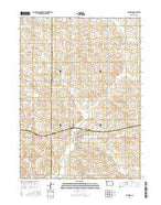 Manning Iowa Current topographic map, 1:24000 scale, 7.5 X 7.5 Minute, Year 2015 from Iowa Map Store
