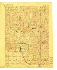 Maquoketa Iowa Historical topographic map, 1:62500 scale, 15 X 15 Minute, Year 1891