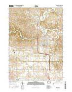 Maquoketa Iowa Current topographic map, 1:24000 scale, 7.5 X 7.5 Minute, Year 2015 from Iowa Map Store