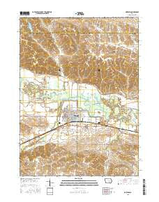 Marengo Iowa Current topographic map, 1:24000 scale, 7.5 X 7.5 Minute, Year 2015