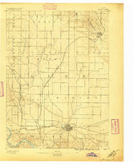 Marion Iowa Historical topographic map, 1:62500 scale, 15 X 15 Minute, Year 1888