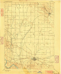 Marion Iowa Historical topographic map, 1:62500 scale, 15 X 15 Minute, Year 1889