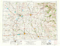 Mason City Iowa Historical topographic map, 1:250000 scale, 1 X 2 Degree, Year 1954