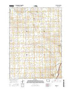 Matlock Iowa Current topographic map, 1:24000 scale, 7.5 X 7.5 Minute, Year 2015 from Iowa Map Store